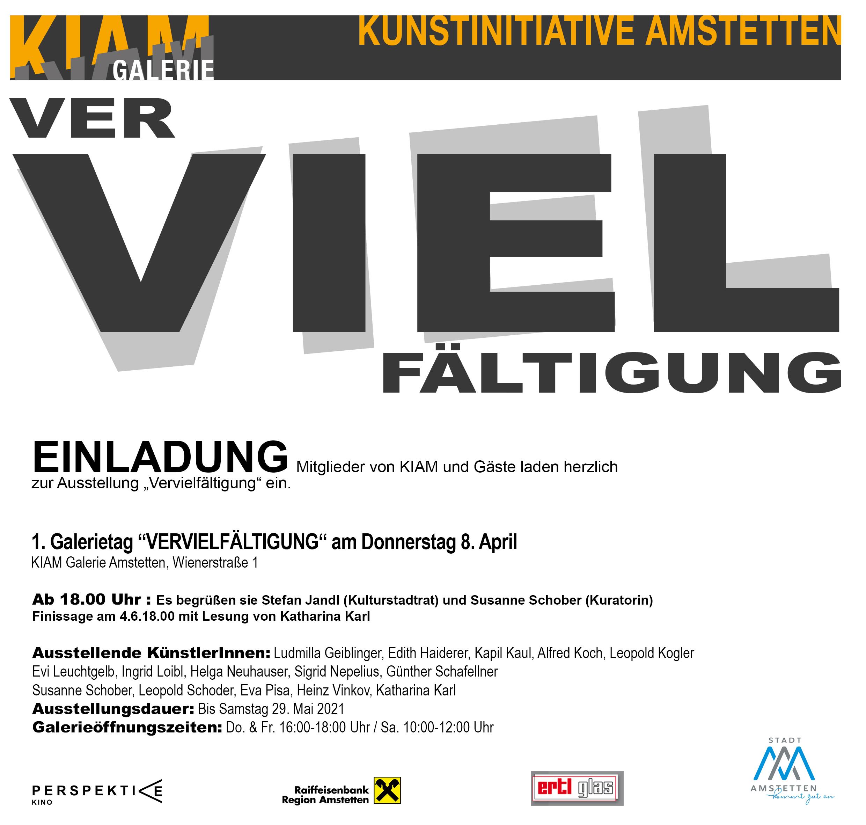 """""""Vervielfältigung"""" in der KIAM Galerie Amstetten (AT)"""